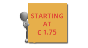 Starting at only € 1.75