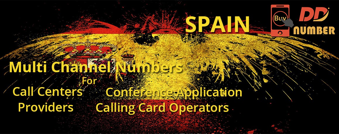 Spain DDI Phone Numbers with unlimited channels for Calling Cards | Call Centers
