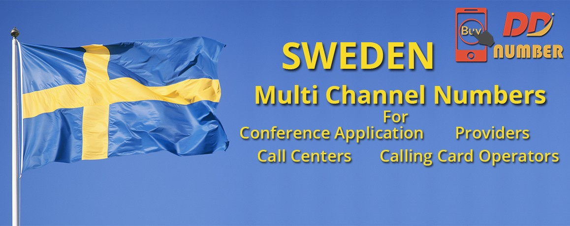 Sweden DDI Phone Numbers with unlimited channels for Calling Cards &  Call Centers