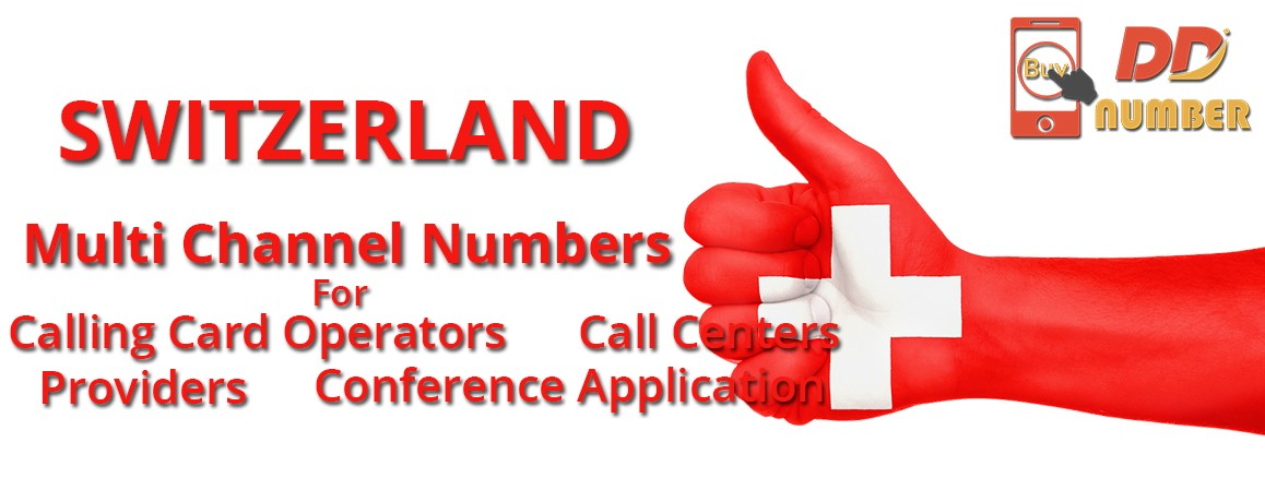 Switzerland DDI Phone  Numbers with unlimited channels for Calling Cards &  Call Centers