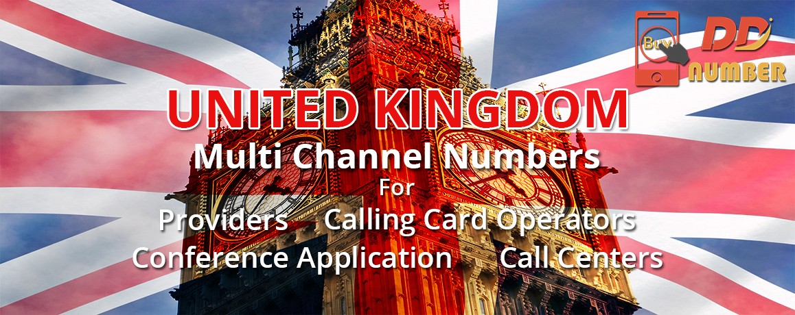 United Kingdom DDI Numbers|Geographic |unlimited channels for Calling Cards | Call Centers