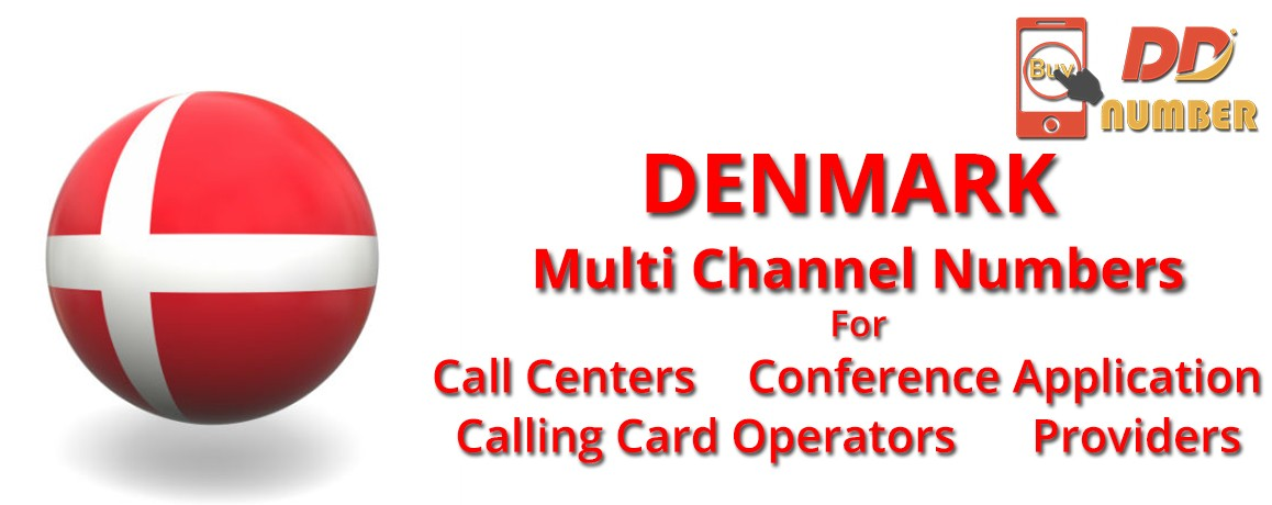 Denmark DDI Phone Numbers with unlimited channels for Calling Cards |Call Centers